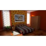 Кровать-170 МДФ Дуб Сонома