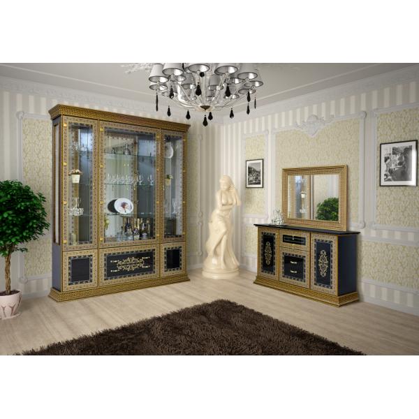 Модульная гостиная Белладжио черная