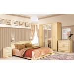 Двуспальная кровать Флоренция 160 Венге Светлый лак