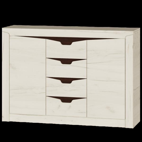 Комод Либерти 1400 Дуб Крафт Белый